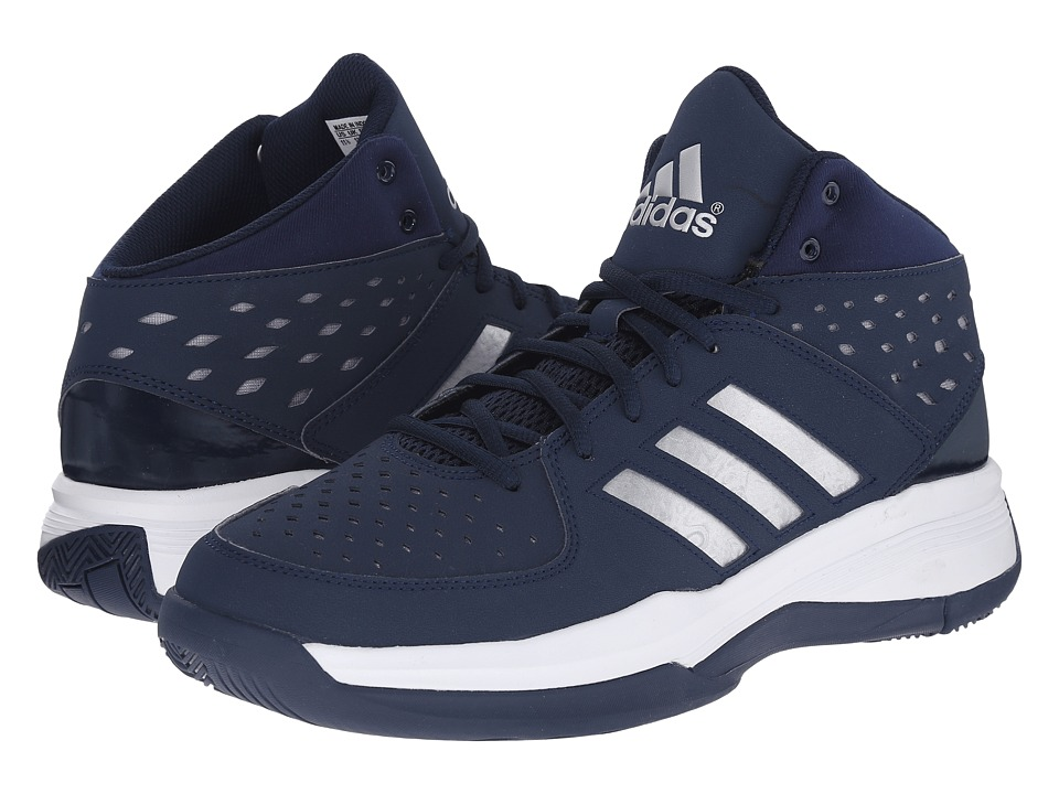 adidas - Court Fury (Collegiate Navy/Silver Metallic/Feather White) Men's Basketball Shoes