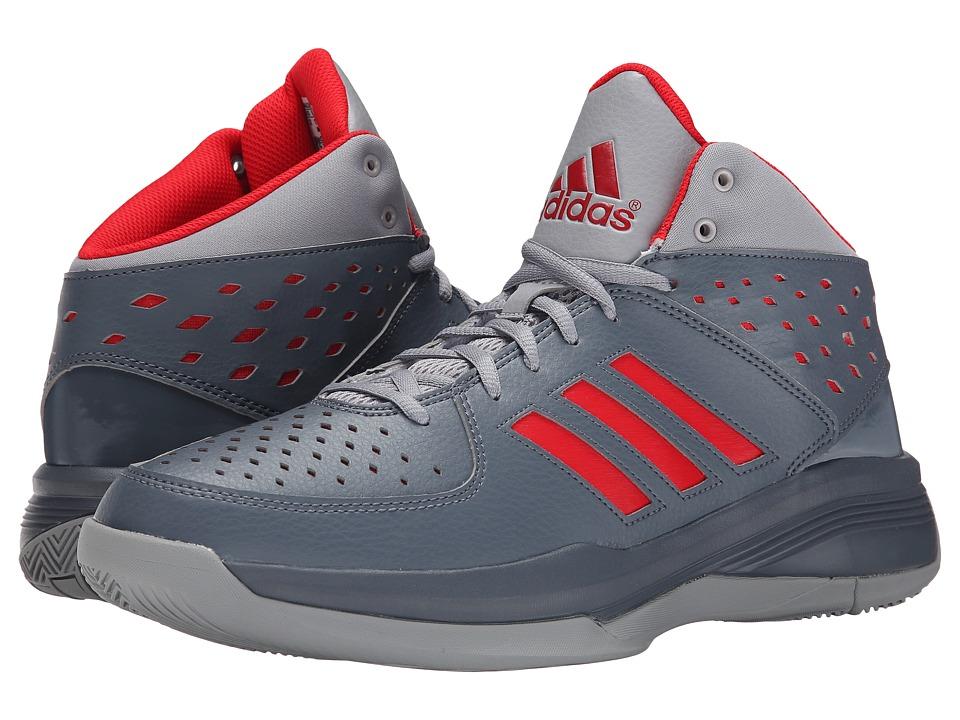 adidas - Court Fury (Onix/Vivid Red S13/Light Onix) Men's Basketball Shoes