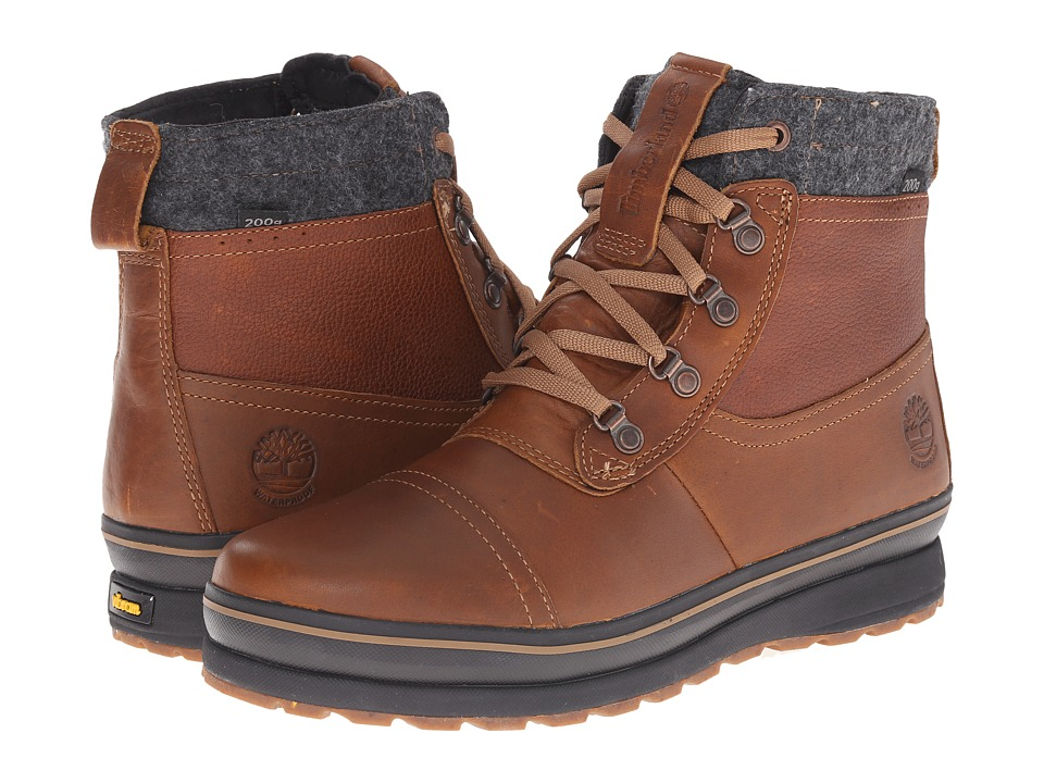 Timberland - Schazzberg Mid Waterproof Insulated (Brown) Men's Waterproof Boots