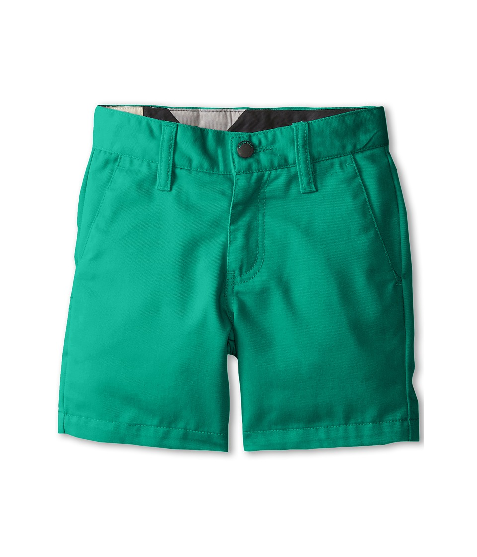 Volcom Kids - Frickin' Chino Shorts (Toddler/Little Kids) (Lawn Green) Boy's Shorts