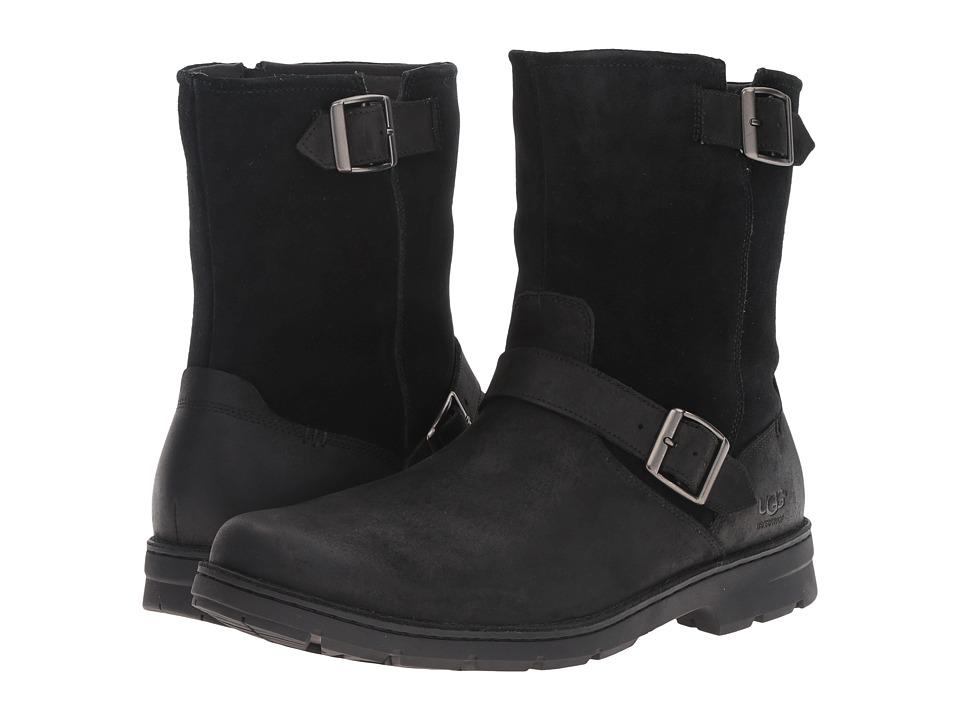 UGG - Messner (Black Leather) Men's Pull-on Boots