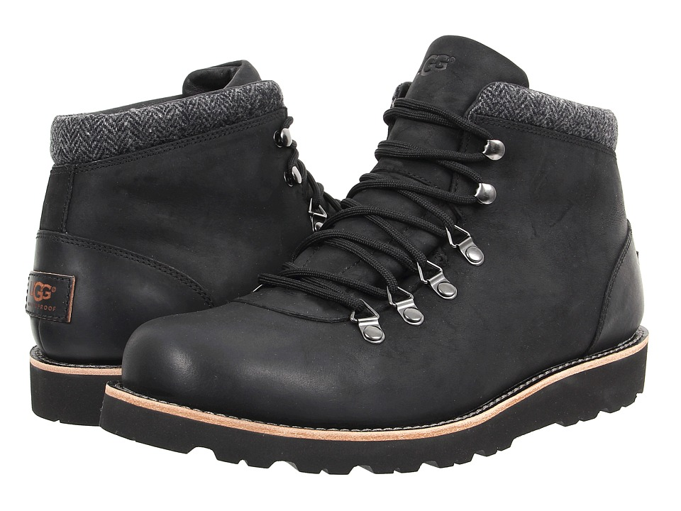 UGG - Boysen TL (Black Leather) Men's Lace up casual Shoes