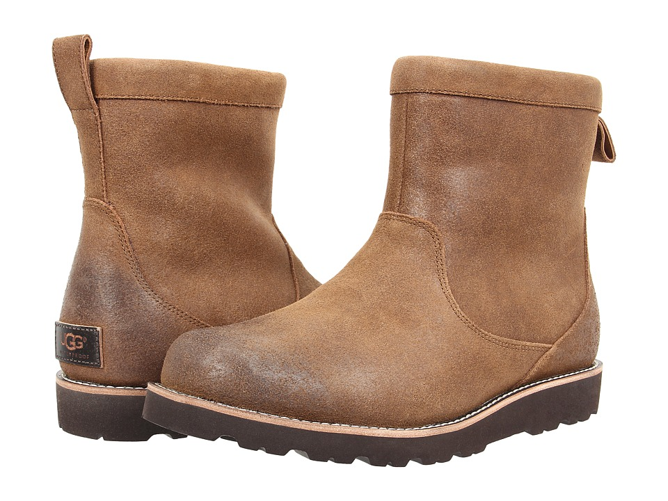 UGG - Hendren TL (Chestnut Suede) Men's Pull-on Boots