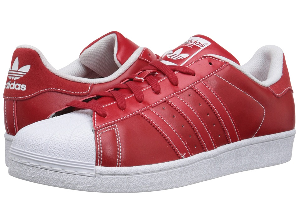 adidas Originals - Superstar - Contrast Stitch (Scarlet/Scarlet/White) Men's Classic Shoes