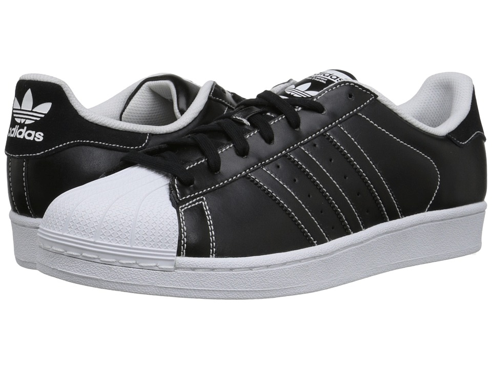 adidas Originals - Superstar - Contrast Stitch (Black/Black/White) Men's Classic Shoes