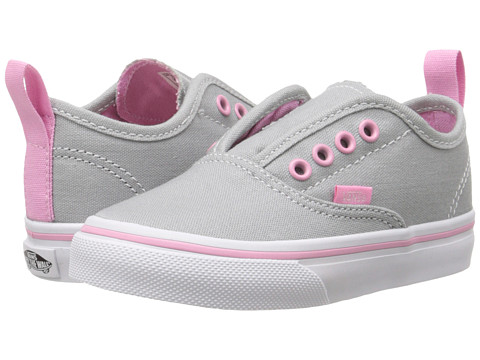 Vans Kids - Authentic V (Toddler) ((Pop) High-Rise/Prism Pink) Girls Shoes