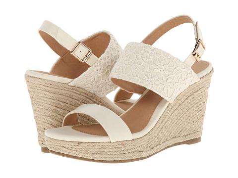 Report - Kynsley (Cream) Women's Wedge Shoes