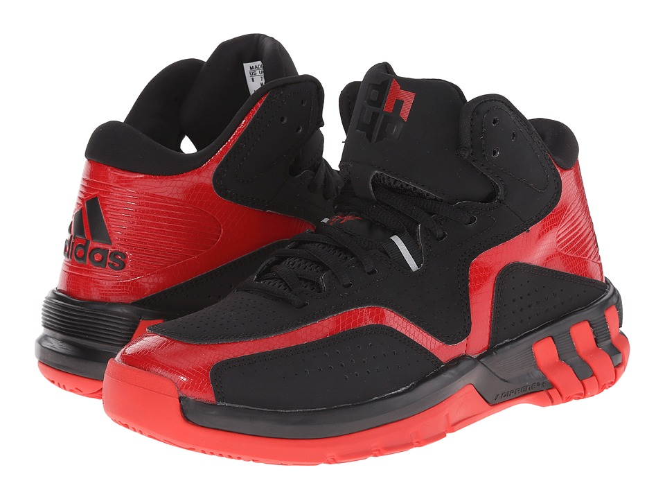 adidas - D Howard 6 (Black/Scarlet) Men
