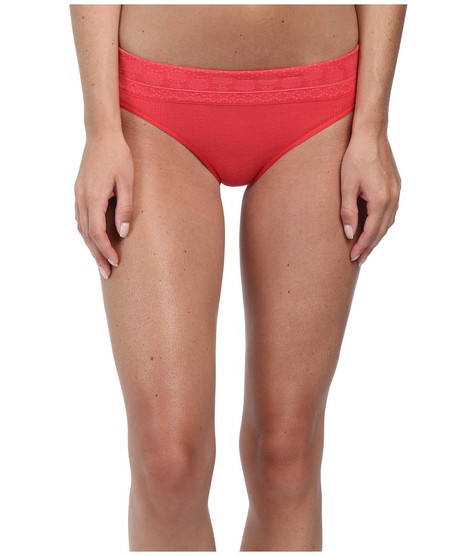 Smartwool - PhD Seamless Mid Rise Bikini (Hibiscus) Women's Underwear