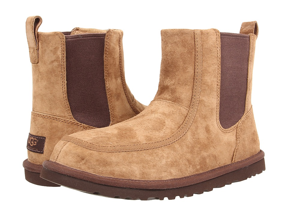 UGG - Bloke II (Chestnut Suede/Sheepskin) Men's Pull-on Boots