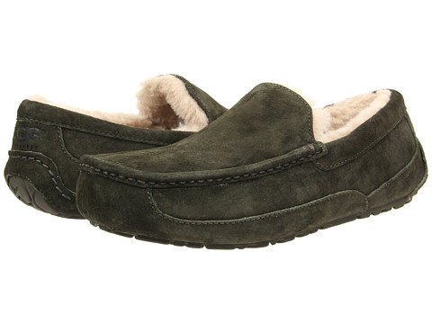 UGG - Ascot (Lodge Green/Lodge Green Suede) Men's Slippers