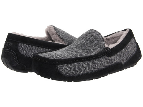 UGG - Ascot Tweed (Black Tweed) Men's Shoes