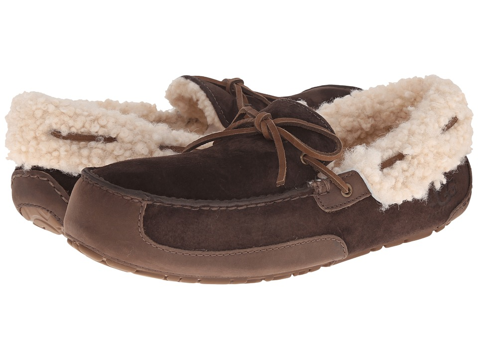 UGG - Fleming (Chocolate Suede) Men's Slippers