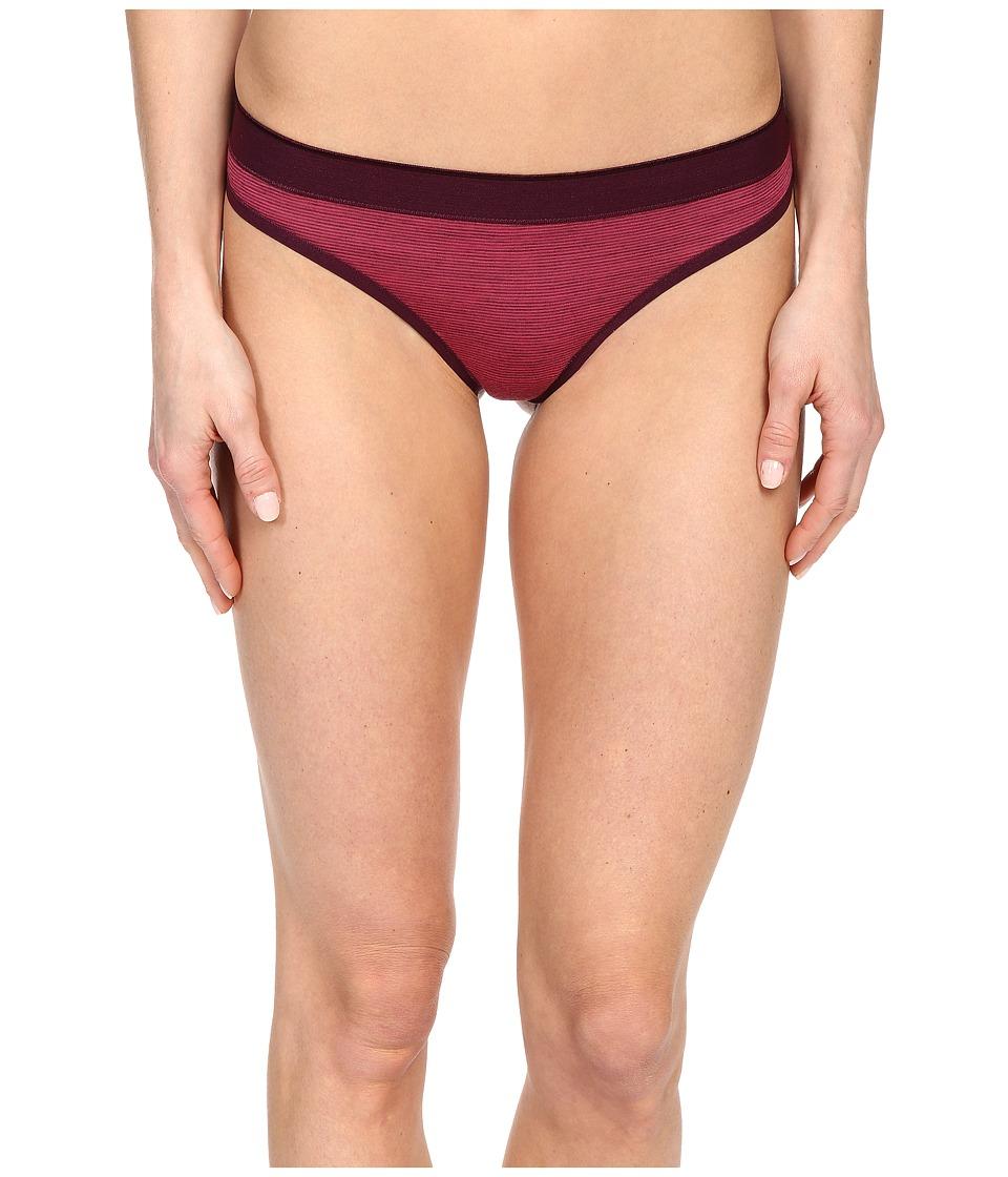 Smartwool - NTS Micro 150 Pattern Thong (Bright Pink) Women's Underwear