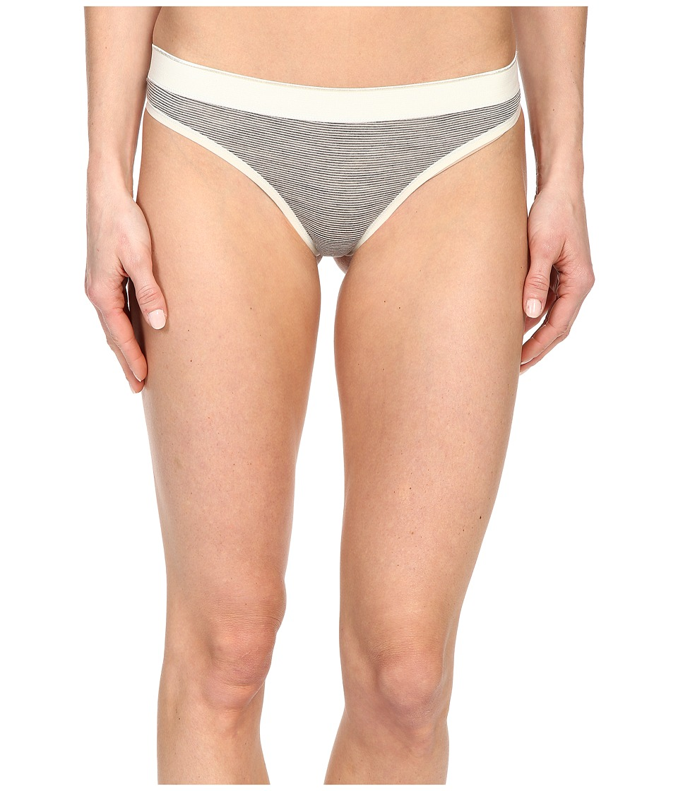 Smartwool - NTS Micro 150 Pattern Thong (Silver Gray Heather) Women's Underwear