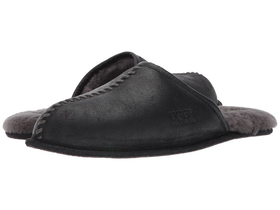 UGG Scuff Deco (Black Leather) Men
