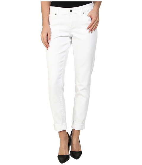 CJ by Cookie Johnson - Glory Slim Boyfriend w/ Grinding in Optic White (Optic White) Women