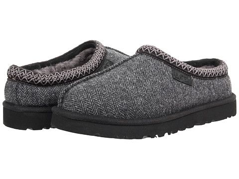 UGG - Tasman Tweed (Black Tweed) Men's Slippers