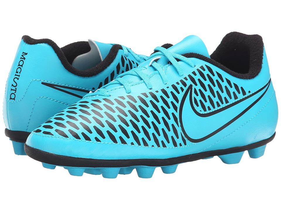 Nike Kids - Jr Magista Ola FG-R Soccer (Little Kid/Big Kid) (Turquoise Blue/Black/Turquoise Blue) Kids Shoes
