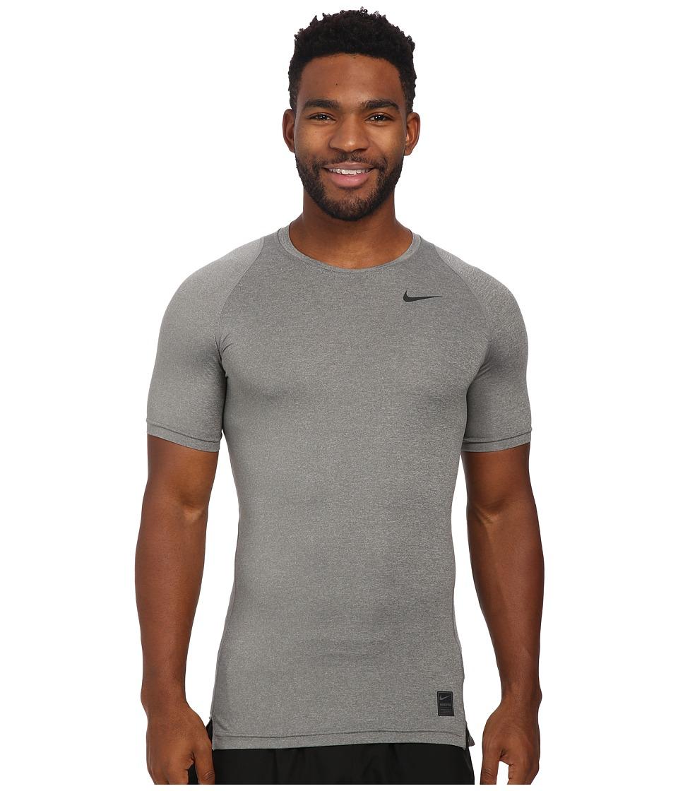 Nike Pro Cool Compression S/S (Carbon Heather/Black/Black) Men