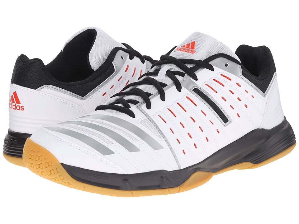 adidas - Essence Stabil (White/Bold Orange/Black) Men's Shoes