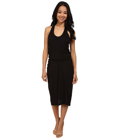 DKNYC - Elastic Waist Racerback Dress (Black) Women's Dress