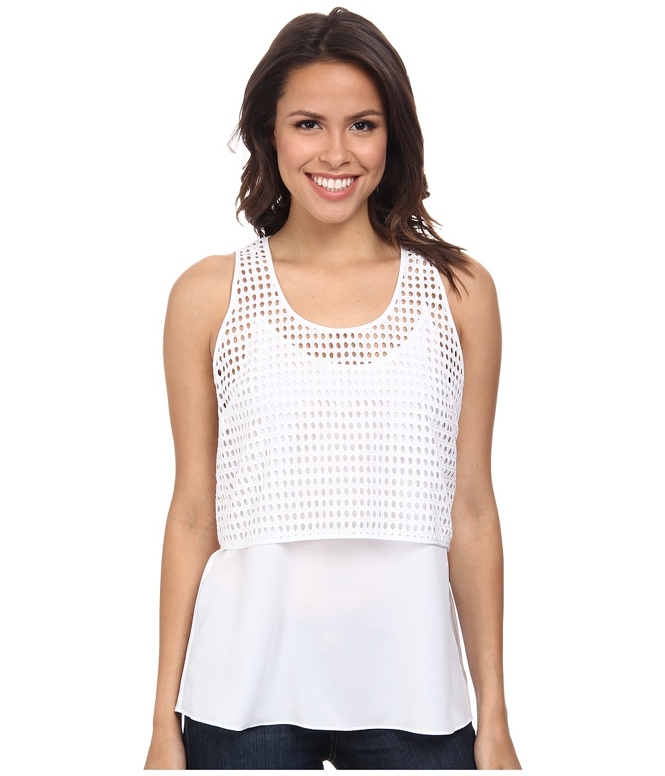 DKNYC - Crepe De Chine Underlayer Tank Top (White) Women's Sleeveless