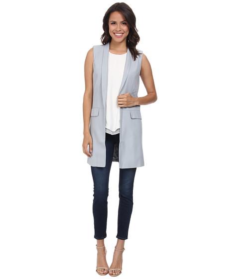 DKNYC - Modern Crepe Long Vest (Spring Rain) Women