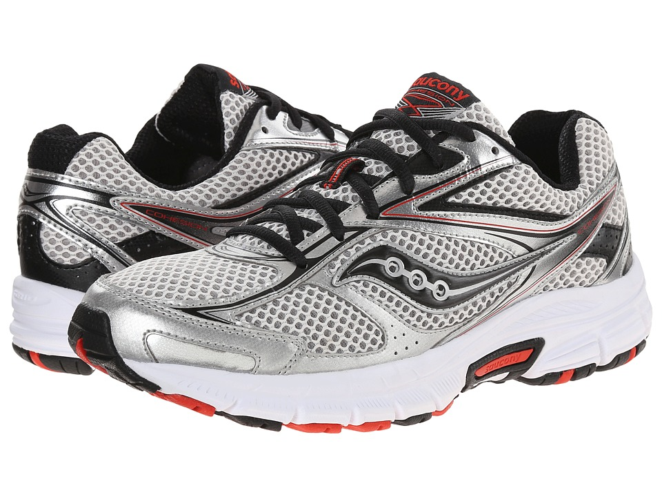 Saucony - Grid Cohesion 8 (Grey/Black/Red) Men's Shoes