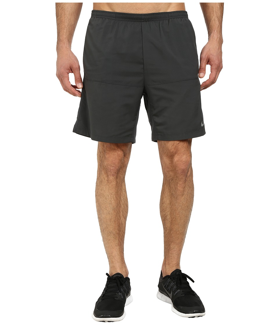 Nike - 7 Distance Running Short (Anthracite/Anthracite/Reflective Silver) Men