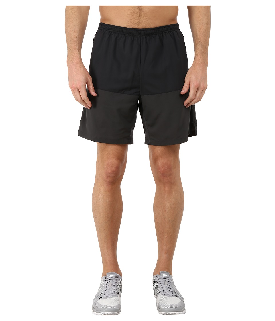 Nike - 7 Distance Running Short (Black/Anthracite/Reflective Silver) Men's Shorts