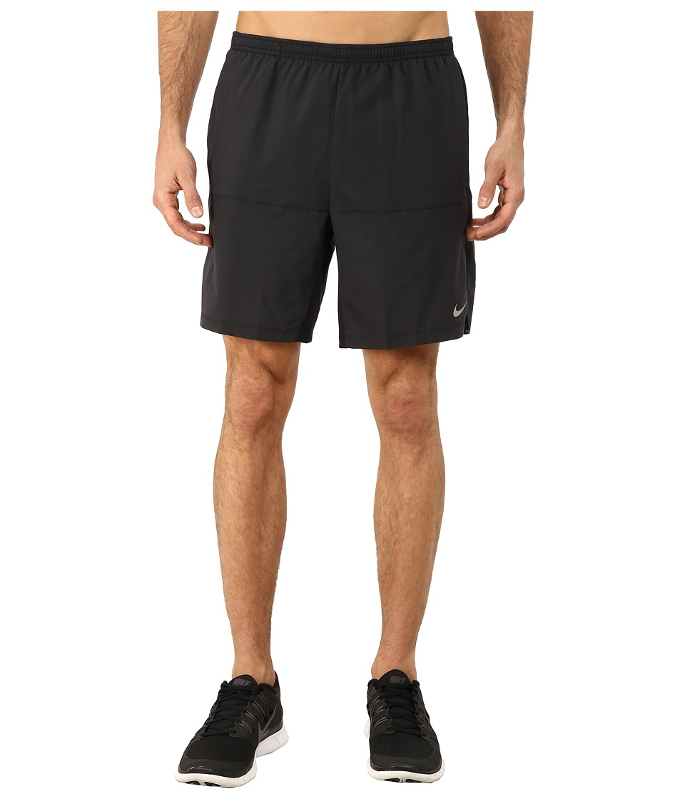 Nike - 7 Distance Running Short (Black/Black/Reflective Silver) Men's Shorts