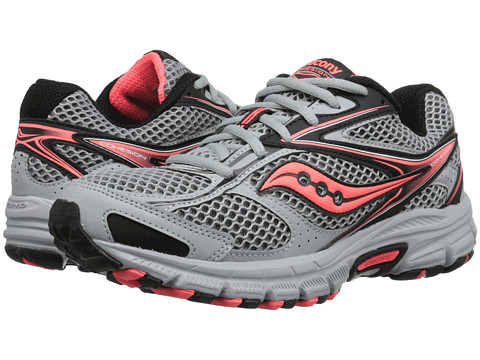 Saucony - Grid Cohesion TR8 (Grey/Black/Coral) Women's Shoes