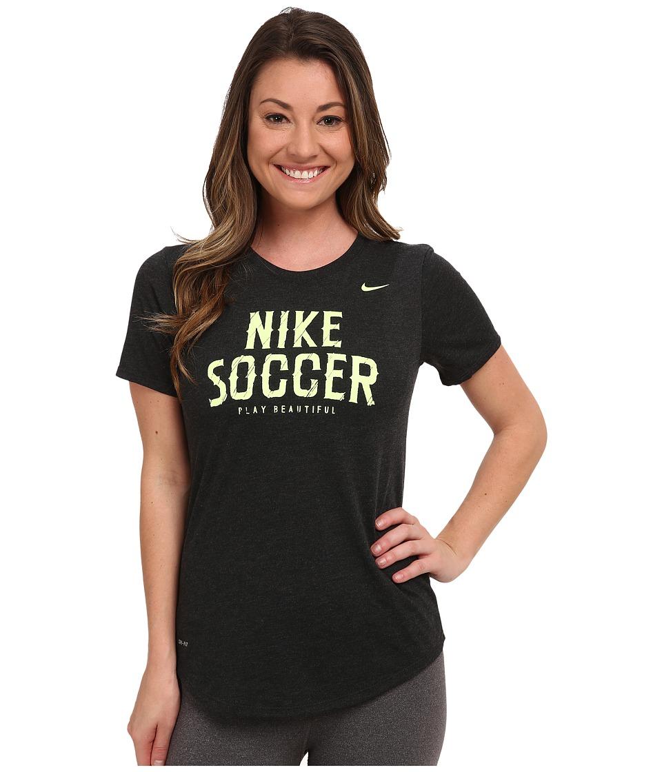 Nike - Dri-FIT Soccer Dri Blend Tee (Black Heather) Women