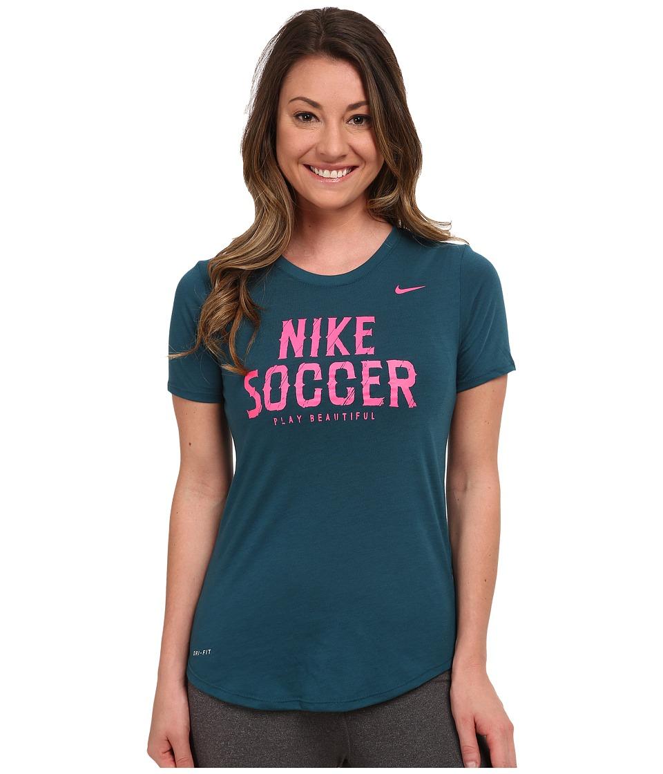 Nike - Dri-FIT Soccer Dri Blend Tee (Teal) Women