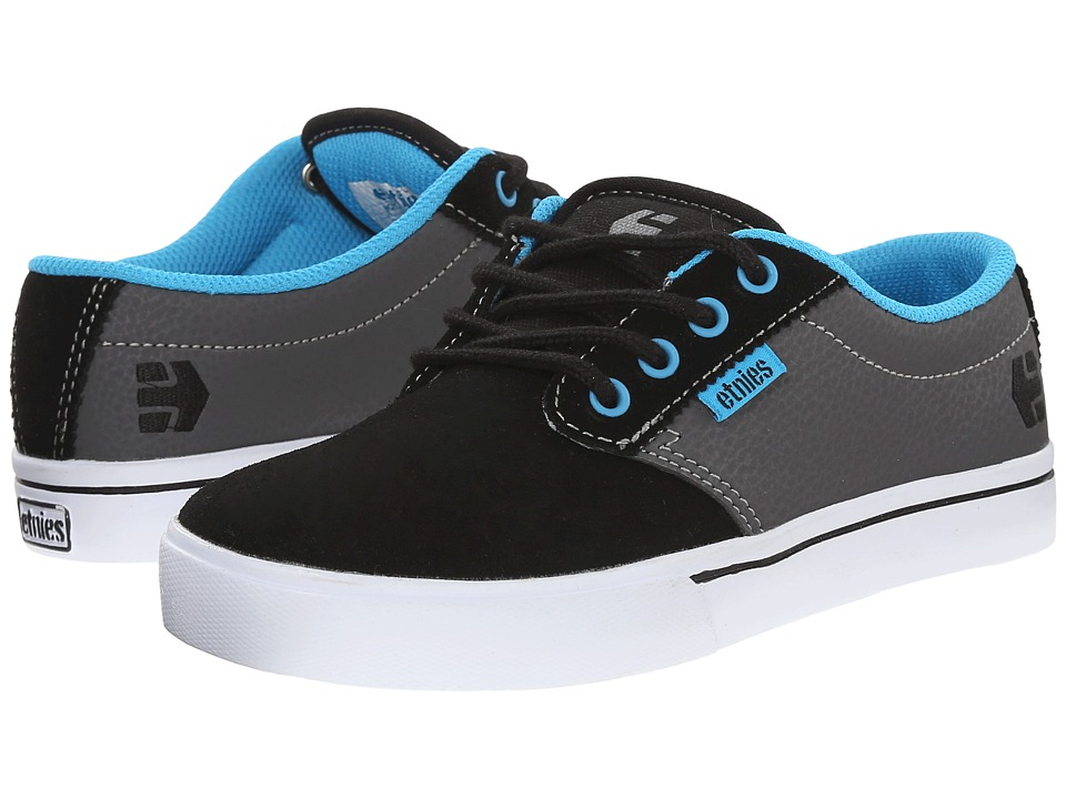 etnies Kids - Jameson 2 Eco (Toddler/Little Kid/Big Kid) (Black/Grey/Blue) Boys Shoes