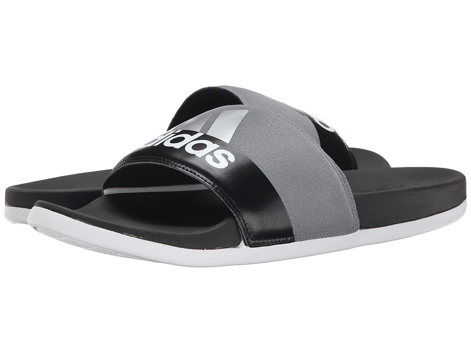 adidas - Adilette Supercloud Plus (Black/White/Vista Grey) Men's Sandals