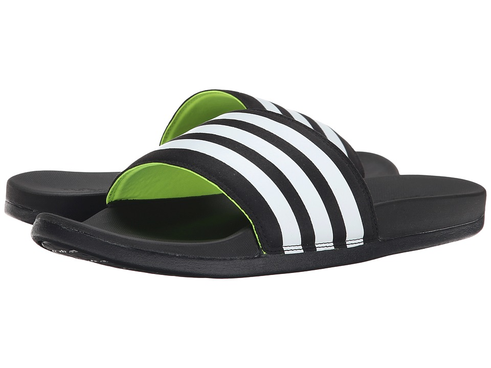 adidas - Adilette Supercloud Plus (Black/White/Solar Yellow) Men's Sandals