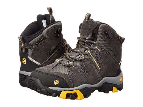 Jack Wolfskin Kids - Mtn Attack Mid Texapore (Toddler/Little Kid) (Burly Yellow) Boy