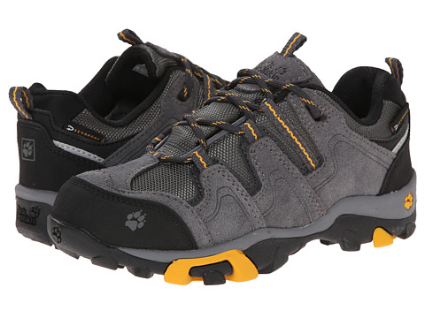 Jack Wolfskin Kids - Mtn Attack Low Texapore (Little Kid/Big Kid) (Golden Yellow) Boy