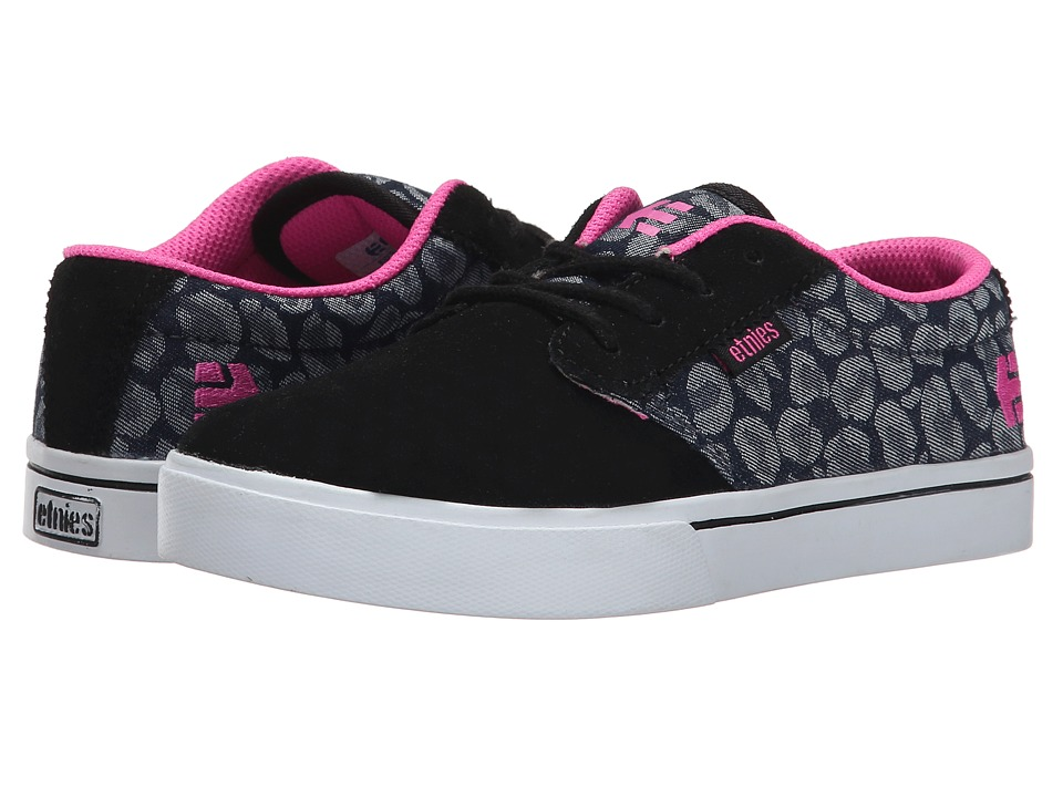 etnies Kids - Jameson 2 Eco (Toddler/Little Kid/Big Kid) (Black/Blue/Pink) Girls Shoes