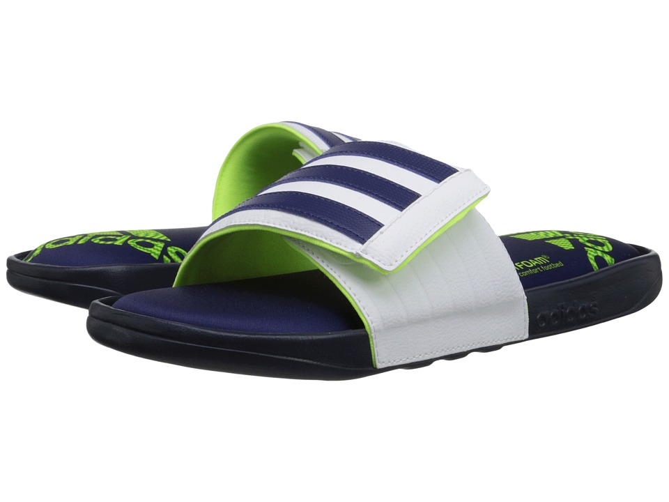 adidas - Adissage Comfort FF (Collegiate Navy/Midnight Indigo/White) Men's Slide Shoes