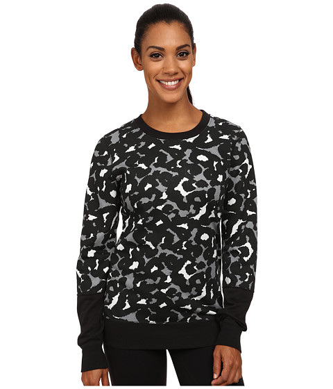 Nike - Club Crew - AOP (Black/Summit White) Women's Clothing