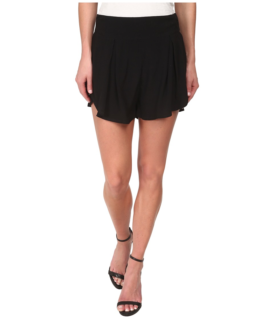 MINKPINK - Crepe Flap Front Shorts (Black) Women's Shorts