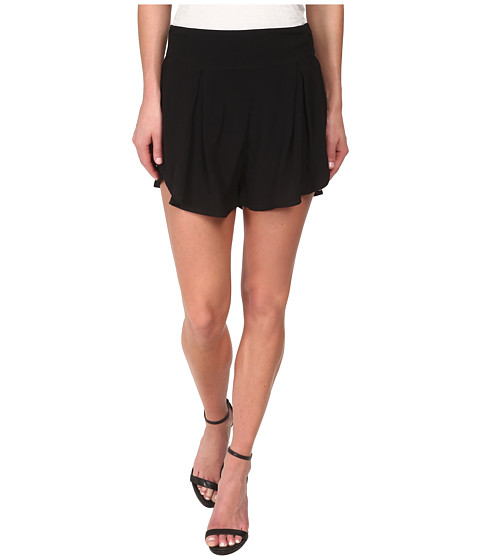 MINKPINK - Crepe Flap Front Shorts (Black) Women