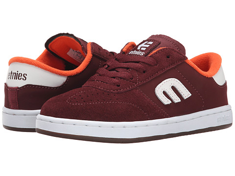etnies Kids - Lo-Cut (Toddler/Little Kid/Big Kid) (Burgundy) Boys Shoes