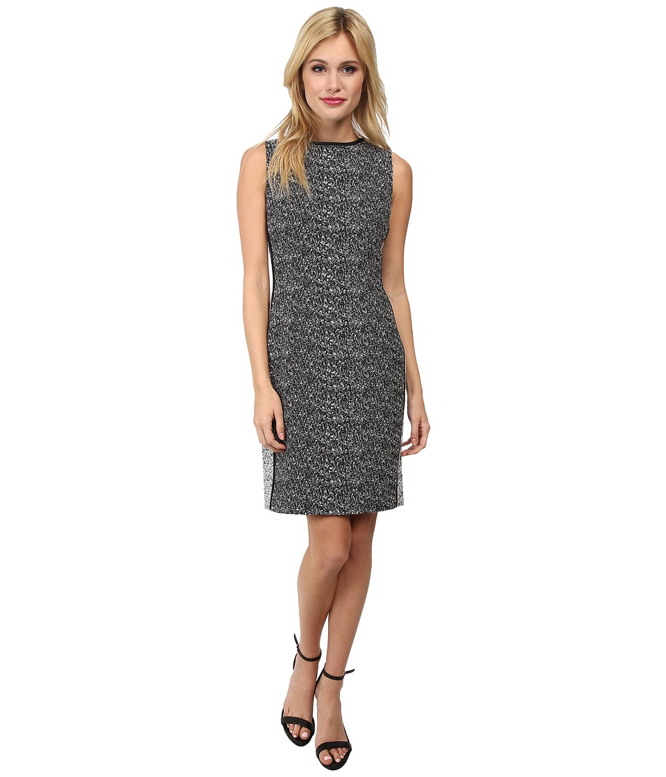 Calvin Klein - Two-Tone Sheath Dress w/ Piping (Splatter Jacquard) Women's Dress