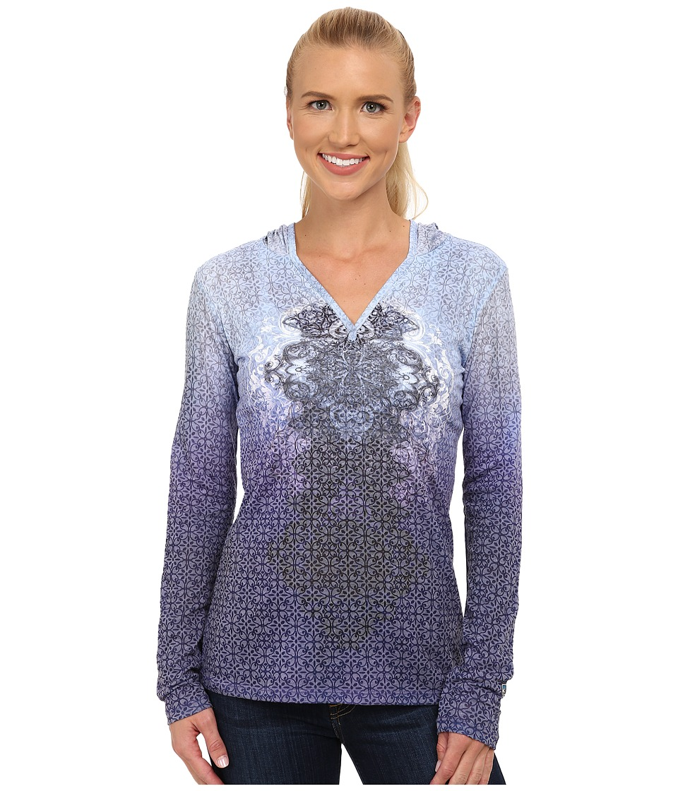 Kuhl - Basel Hoodie (Blue Sapphire) Women's Long Sleeve Pullover