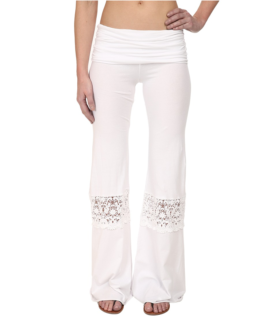 Nightcap - Crochet Beach Pants (White) Women's Casual Pants