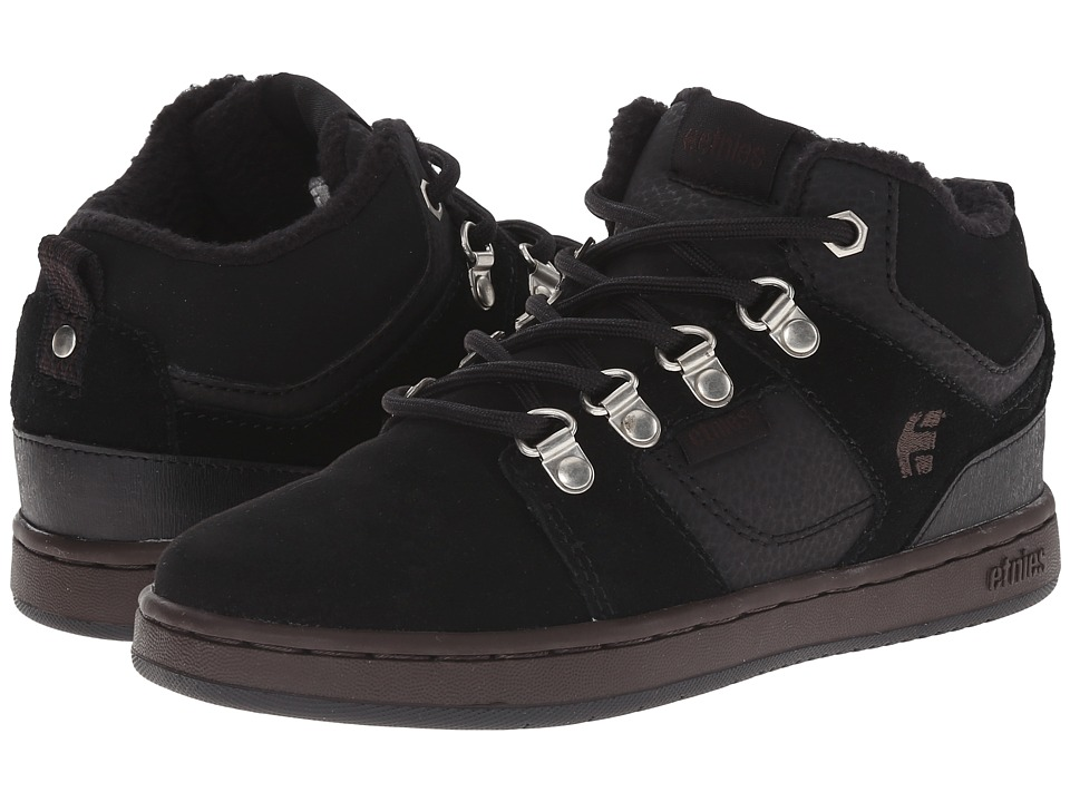 etnies Kids - High Rise (Toddler/Little Kid/Big Kid) (Black/Brown) Boys Shoes